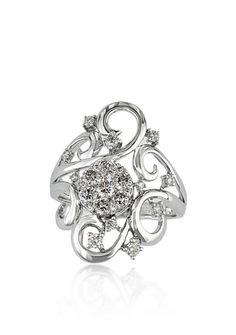 Effy® Diamond Swirl Cluster Ring in 14k White Gold