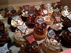 Cupcake (adorable toppers)--could make guitar pick toppers