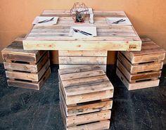 Desain meja makan dari pallet bekas ~ Teknologi Konstruksi Arsitektur