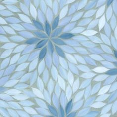 blossom mosaic in mica, pewter, and covellite (not my colors, but a gorgeous design)