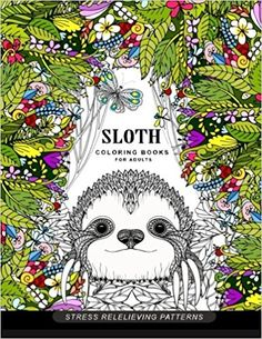 Sloth Coloring Book For Adults Animal Books Amazon