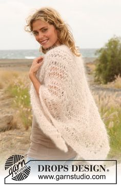 34 Super Ideas for knitting projects free pattern drops design Free Knit Shawl Patterns, Skirt Pattern Free, Jacket Pattern, Free Pattern, Crochet Patterns, Drops Design, Knitting Designs, Knitting Projects, Crochet Design