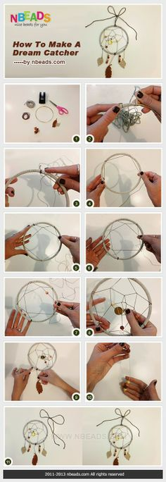 How to make your own dream catcher attrape rêve Crafts To Do, Crafts For Kids, Arts And Crafts, Dreams Catcher, Los Dreamcatchers, Ideias Diy, Diy Gifts, Craft Projects, Artsy
