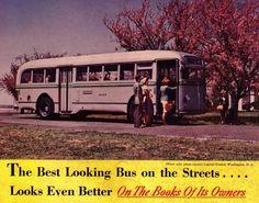 Capital Transit (Washington DC) White Super Power Motor Coach (1950s).