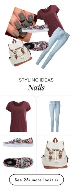 """Casual"" by eventer4ever428 on Polyvore featuring moda, Object Collectors Item, Frame Denim, Vans e Wet Seal"