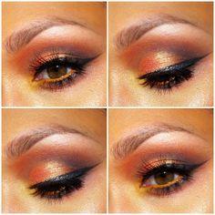 Orange sunset eyes