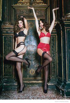 Incanto Goes Burlesque for Christmas Dreams Lingerie Campaign