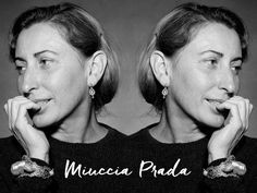I have long admired Miuccia Prada I'd like to steal not only her style but also her wardrobe. I admire her fashion bravery and her love of colour.