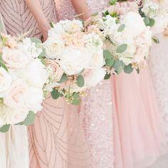 Decoração+de+Casamento+:+Paleta+de+Cores+Verde,+Rosa+Chá+e+Dourado