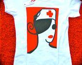 T-shirt (SMALL) - Nurse Diva. $40.00, via Etsy.