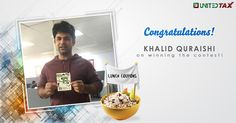 Well done, Khalid Quraishi! You've won a delicious lunch coupon in our contest! Bon Appetit!
