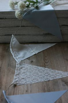 Use this, but with darker blue denim also.   RusTic Wedding BunTinG BaNnEr, rustic wedding prop, flag banner, barn wedding decor, lace bunting banner flag