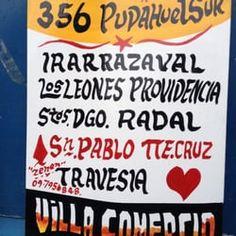 Foto de Letreros Zenén - RM Santiago, Chile. El letrero de la 356 que pasaba por Los Leones con Irarrázabal