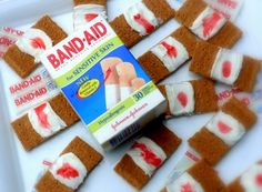 Bloody Band-Aid Cookies
