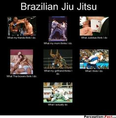 Brazilian Jiu Jitsu... - What people think I do, what I really do - Perception Vs Fact