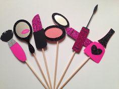 Maquillaje Cupcake Toppers Spa por BirdInACageCreations en Etsy