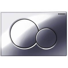 Geberit Gloss Chrome Dual Flush Plate for Cistern - Toilet Wall, Flush Toilet, Small Toilet Design, Concealed Cistern, Heating And Plumbing, Sound Absorbing, Modern Bathroom Design, Chrome, Plastic