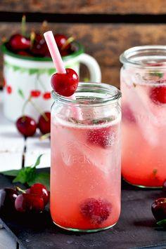 Cocktail sans alcool basilic cerise