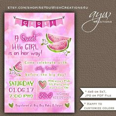 358 best unique baby shower invitations images on pinterest in 2018 printable invitations matching party by asyouwishcreations4u unique baby showergender filmwisefo