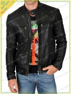 Shop a great selection of DIB Leather Men's Lambskin Leather Bomber Biker Jacket. Find new offer and Similar products for DIB Leather Men's Lambskin Leather Bomber Biker Jacket. Cargo Jacket Mens, Grey Bomber Jacket, Green Cargo Jacket, Motorcycle Jacket, Motorcycle Fashion, Lambskin Leather Jacket, Biker Leather, Leather Men, Leather Jackets