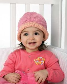 Stretchy Knit Baby Hat - We'll take this in purple, please!