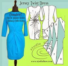 well-suited:+JERSEY+TWIST+DRESS+-+Sampled!