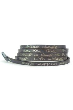 The Good Works Leather Wrap Bracelet. A constant reminder of faith kindness and positive thinking. 25% from the sale of these bracelets are donated to charitable causes organizations and communities in need. MATERIAL : Crafted with genuine leather with alloy metal clasp closure    LENGTH : 36 inch adjustable for all size wrists  Brand: GOOD WORKS    Fiber Content: Leather (View Fabric Guide) Goodworks Leather Wrap-Bracelet by GOOD WORKS. Accessories - Jewelry - Bracelets Alabama