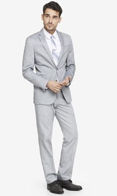 OXFORD CLOTH PHOTOGRAPHER SUIT JACKET from EXPRESS