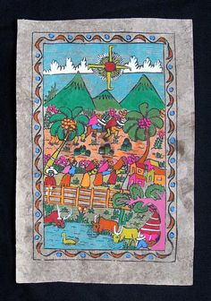 Mexican bark painting?