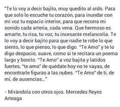 〽️ Te lo voy a decir bajito. Mercedes ?Reyes Arteaga...