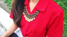 Necklace Fashion Vintage Exaggerate Contrast Color Design 5839