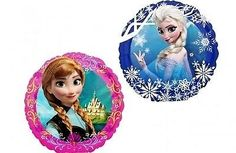 Amazon.com: Disney Frozen Party Supplies Double Sided Sisters Anna and Elsa Mini Foil Balloon (Pack of 3): Everything Else