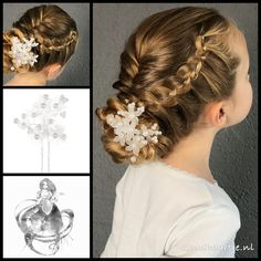 Two four strand lacebraids and a fishtail braid into a bun