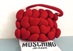 Vintage Moschino Puffy Heart Bag