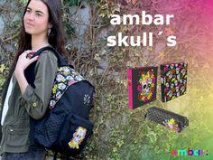 Linha ambar skull´s: uma coleção repleta de cor, inspirada nas famosas caveiras mexicanas que são hoje um ícone mundial. #ambarideiasnopapel #regressoasaulas #mochilas #a: