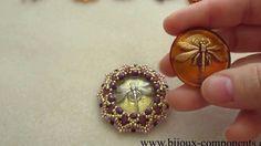 Beaded glass button/ Obšitý skleněný knoflík - Tutorial/Návod