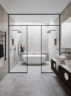 Bathroom tips, master bathroom renovation, bathroom decor and bathroom organization! Master Bathrooms can be beautiful too! From claw-foot tubs to shiny fixtures, these are the master bathroom that inspire me probably the most. Bathroom Layout, Modern Bathroom Design, Bathroom Interior Design, Bathroom Ideas, Bathroom Designs, Shower Bathroom, Shower Rooms, Shower Designs, Shower Set