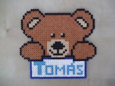 If you are looking for a beautiful and original plate to hang on the door, with your child's name on it, look no further! Made of fuse beads, it can be changed to suit your taste; not only the colour but also the decoration. This listing is for a name with 5 or more letters and a big decoration...