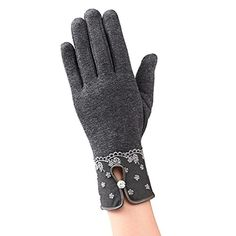 Showking New Arrival Fashion Womens Winter Outdoor Sport Warm Gloves Gray >>> You can find out more details at the link of the image. (This is an affiliate link)