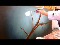 How to paint cherry blossoms STEP by STEP - Amy Pierce is greeat :) Simple Oil Painting, Acrylic Painting Techniques, Painting Videos, Painting Lessons, Easy Paintings, Diy Painting, Art Lessons, Cherry Blossom Art, Art Tutorials