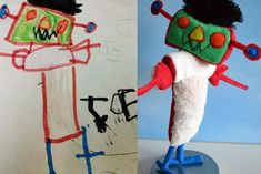 !!! Website takes your kids drawing and turns it into a stuffed ..creature!
