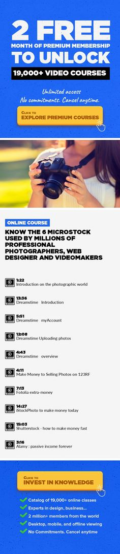 Know the 6 microstock used by Millions of Professional Photographers, Web Designer and Videomakers Digital Photography, Web Design, Adobe Illustrator, Adobe Photoshop, Lifestyle, Graphic Design, Creative, Freelance, Other, UI/UX Design #onlinecourses #onlinedegree #studytips   Dreamstime, Fotolia, 123RF, iStockPhoto, Shutterstock and Alamy These are the most popular web sites used by professional ...