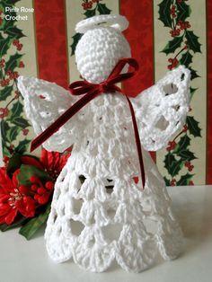 Este é o Anjo de NatalShelf Angel  do livro Our Best Christmas Thread Crochet.   Traduzi  e escrevi a receita.                     Cr...