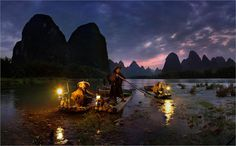 NIGHT FISHING IN YANGSHUO, CHINA