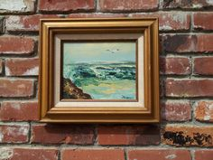 Vintage Impressionist Original Oil Painting On Canvas Signed Bong Ocean Scene by Artchetypal on Etsy