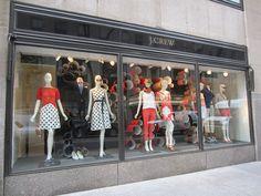 J.Crew windows, New York visual merchandising
