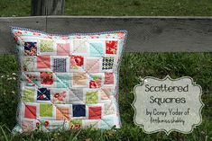 Scattered Squares Pillow