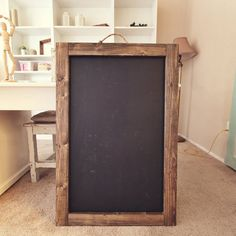 large rustic chalkboard frame 36x24 by mxowoodworking on etsy