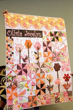 Wonderful baby quilt - must do if we ever get another granddaughter!