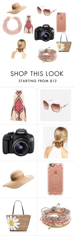 """""""Sogno di mezza estate"""" by simona-norfini on Polyvore featuring MINKPINK, Avenue, Eos, ASOS, Maison Michel, Casetify, Kate Spade, Aéropostale and Kenneth Jay Lane"""